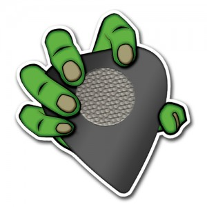 Monster Grips Hand Logo Sticker